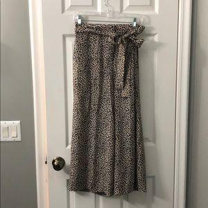 Gorgeous silk leopard print J.Crew pants, like new
